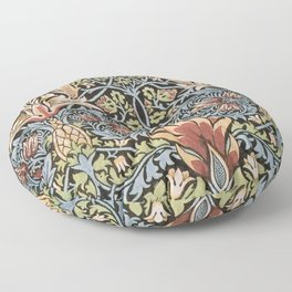 William Morris Snakeshead Original Vintage Pattern Floor Pillow