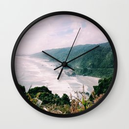 The Lush Scenery of New Zealand! Wall Clock