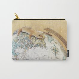 Globe-Trotting Gecko Carry-All Pouch
