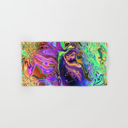 Reflective Colors Abstract Hand & Bath Towel