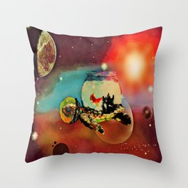 SPACE TURTLE VII - 202 Throw Pillow