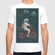Artcrank poster White MEDIUM Mens Fitted Tee