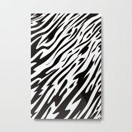 Tiger In The Flow Metal Print