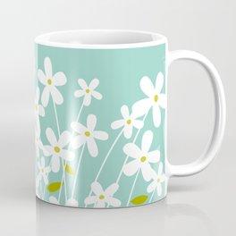 Flowers on Blue by Friztin Coffee Mug