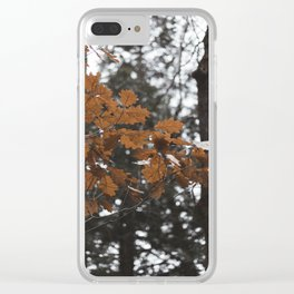 The end of fall Clear iPhone Case