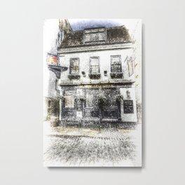 The Mayflower Pub London Snow Metal Print