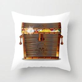 Full Pirates Treasure Chest Throw Pillow