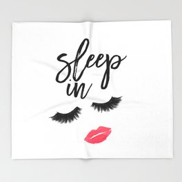 Fashion Quote Fashion Wall Art Typography Print Quote Wall Art Printable Sleep In Printable Wall Art Throw Blanket