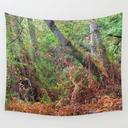 """""""The deep, rainy and mysterious forest"""" Wall Tapestry"""