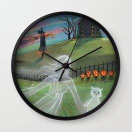 Ghost Friends Halloween Fantasy Art by Molly Harrison Wall Clock