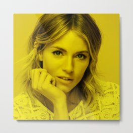 Sienna Miller - Celebrity (Florescent Color Technique) Metal Print