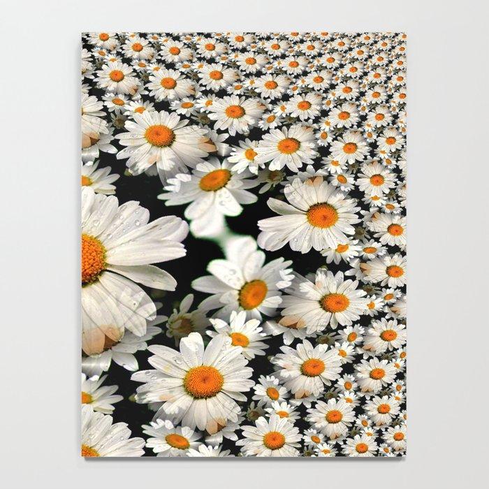 White Daisy Fractal Notebook