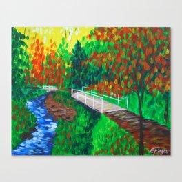 Creekside Bridge Canvas Print