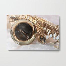 Saxophone, sound of life Metal Print
