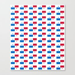 flag of panama 2 -Panama,Panamanian,canal,spanish,San Miguelito,Tocumen,latine,central america,panam Canvas Print