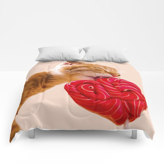 candy cat Comforters