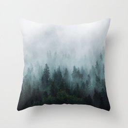 Take Me Somewhere Misty Throw Pillow