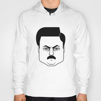 ron swanson Hoodies featuring Ron Swanson by Jude Landry