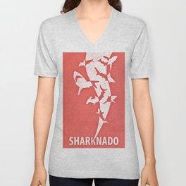 Sharknado minimalist illustration Unisex V-Neck
