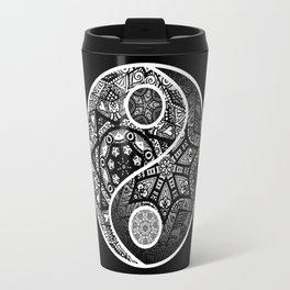 Yin Yang Zentangle Travel Mug