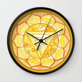 Solar Plexus Manipura Wall Clock