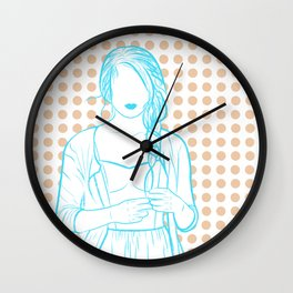 everything was blue Wall Clock