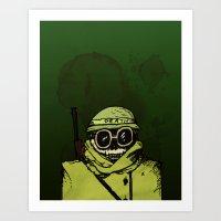 Skeleton Soldier of War Art Print