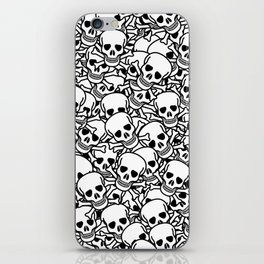 Skulls and crossbones iPhone Skin