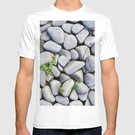 Sea Stones - Gray Rocks, Texture, Pattern T-shirt