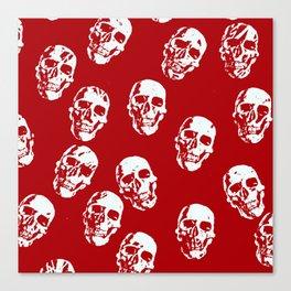 Hot Skulls, red white Canvas Print