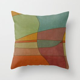 """""""Colorful Abstract Landscape"""" Throw Pillow"""