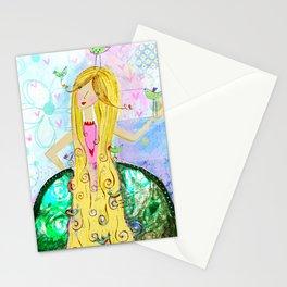 Golden locks Stationery Cards