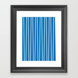 Between the Trees Blue, Cerulean & Navy #401 Framed Art Print