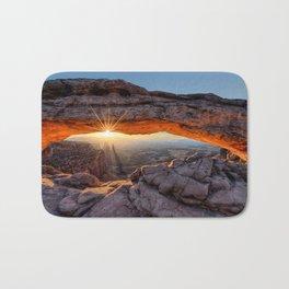Mesa Arch Sunburst  by Lena Owens Bath Mat