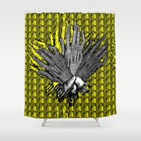 tv Shower Curtains featuring La television  by ramataupia