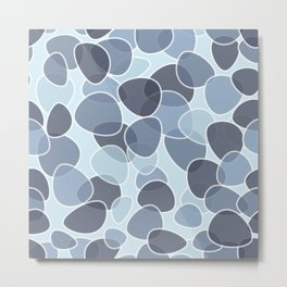 Blue Abstract Design Metal Print