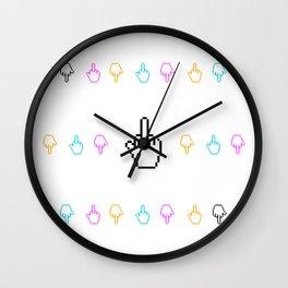 Zap finger cursor Wall Clock