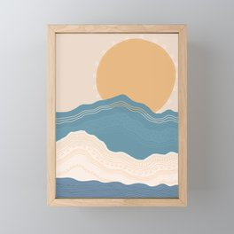 Vacation Sunset Framed Mini Art Print