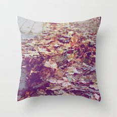 Autumn Path Throw Pillow
