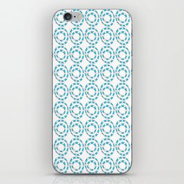 Circle and abstraction 8- blue abstract,geometric,geometrical,circle,sphere iPhone Skin