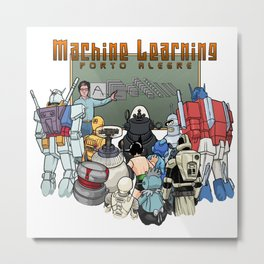 Machine Learning Porto Alegre (orange) Metal Print