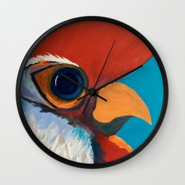 Carolina Game Cock, Rooster #1 Wall Clock