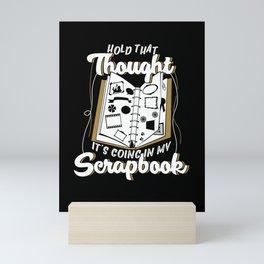Scrapbooking Scrapbook Scrapbooker Gift Mini Art Print