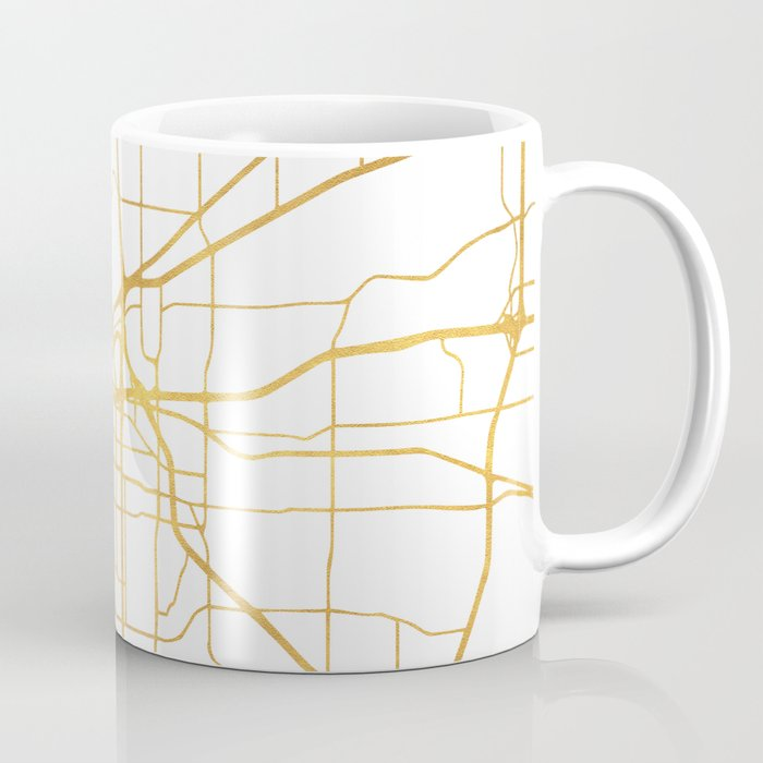 FORT WORTH CITY STREET MAP ART Coffee Mug