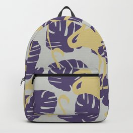 Flamingos and Monstera Pattern ZZ Backpack