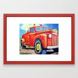 Big Red - Vintage Fire Truck  Framed Art Print
