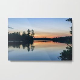 Boundary Waters Twilight Reflections Metal Print