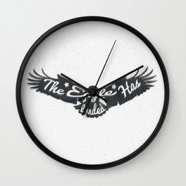 The Eagle Has Landed Wall Clock