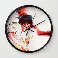 guitar Wall Clocks featuring Guitar by tidlin