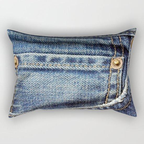 Texture #17 Jeans Rectangular Pillow